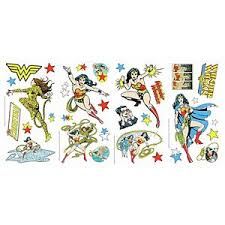 Dc Comics Wonder Woman Peel Stick Giant Wall Decals