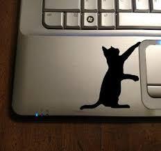 Cat Decal Black Cat Sticker Laptop Cat Decal Macbook Cat Etsy