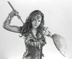 wonder woman gal gadot sketch