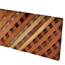 Mendocino Forest Products 0 63 In X 48 In X 8 Ft Redwood Select Common Triple Weave Privacy Lattice 14497 The Home Depot