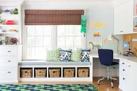 Kid Room With Corner Built In Desk Contemporary Boy S Room