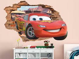 Disney Cars 3d Wall Decal Lightning Mcqueen Wall Sticker Etsy