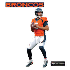 Fathead Joe Flacco Denver Broncos 3 Pack Life Size Removable Wall Decal