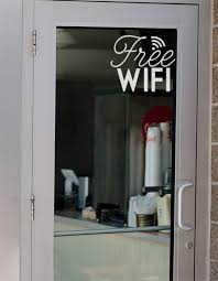 Decals For Business Office Door Decal Free Wifi Sticker Etsy