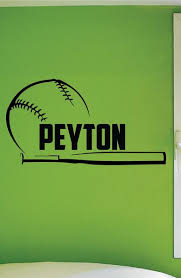 Custom Name Baseball Wall Decal 0279 Personalized Boys Baseball Wall Wall Decal Studios Com