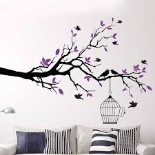 Tree Branch Bird Cage Vinyl Wall Art Decals Removable Wall Stickers House Decorative Windnow Sweet Home Decor Dropshpping Tree Branch Branch Pipetree Branch Candelabra Aliexpress