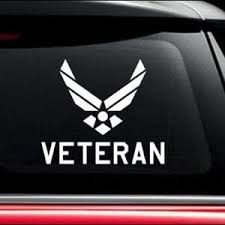 Air Force Veteran Military Window Decal Stickers Custom Sticker Shop