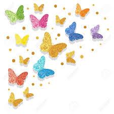 Ilustracion Vectorial Colorido Mariposas Brillantes Para Su Diseno
