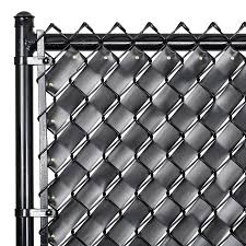Fenpro 250 In L Obsidian Black Chain Link Fence Weave In The Chain Link Fence Slats Department At Lowes Com