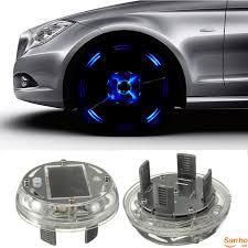 DL776 Đèn led trang trí bánh xe ô tô sử dụng pin năng lượng mặt trời