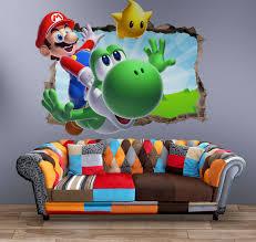 Super Mario Wall Decal 3d Art Stickers Vinyl Room Home Bedroom 1 Ebay