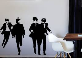 The Beatles Running People Wall Stickers Adhesive Wall Sticker