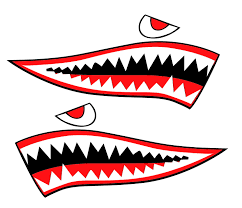 Shark Teeth Kayak Sticker Art Sea Kayak Shark Teeth And Mouth Decal