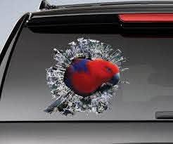 Red Eclectus Roratus Window Sticker Car Sticker Parrot Car Etsy