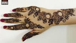 circular mehndi designs for back hand