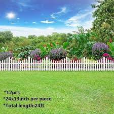 12pcs Plastic Garden Border Fencing Fence Pannels Outdoor Landscape Decor Edging Yard Easy Install Insert Ground Type 610x330mm Buy At The Price Of 26 55 In Aliexpress Com Imall Com