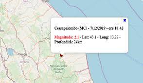 Terremoto oggi nelle Marche, sabato 7 dicembre 2019: in serata ...