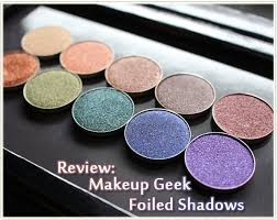 review makeup geek foiled shadows