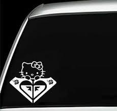 Roxy Girl Hello Kitty Hawaiian Flowers Car Window Laptop Vinyl Decal Sticker Ebay