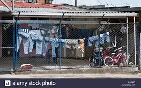 Washing Line Behind Wire Fence Costa Rica Stock Photo Alamy