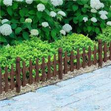 Yaheetech 591677 Wood Picket Garden Fence Edging Fencing Garden Yard Border Edging Panels Posts Flower Plants Pool Fences
