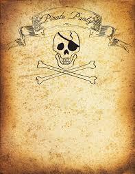 Free Pirate Party Invitation Printable Tutorial Invitaciones