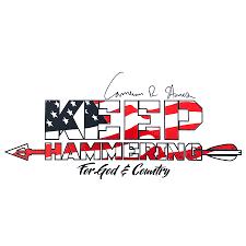 Cameron Hanes Keep Hammering Usa Sticker Cameron Hanes