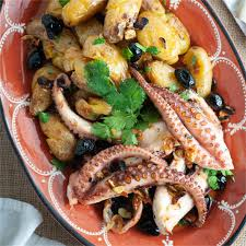 Portuguese style grilled octopus with ...