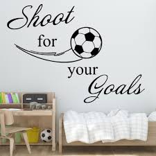 Exquisite Football Soccer Wall Stickers Bedroom Decor Girlsroom Sticker Kids Room Nature Decor Vinyl Art Wall Decals Buy At The Price Of 3 71 In Aliexpress Com Imall Com