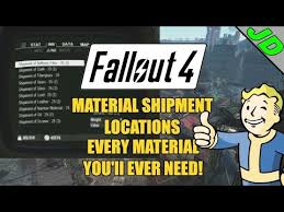 fallout 4 material shipment locations