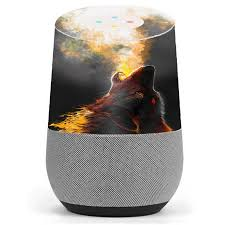 Skin Decal Vinyl Wrap For Google Home Stickers Skins Cover Wolf Howling At Moon Walmart Com