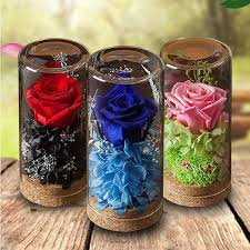 preserved rose glass with images