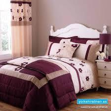 alicia plum bedspread yorkshire linen