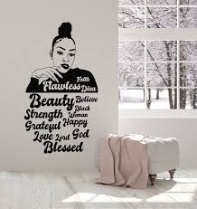 Vinyl Wall Decal Beauty Black Sexy Afro Woman Words Quote Diva Sticker Wallstickers4you