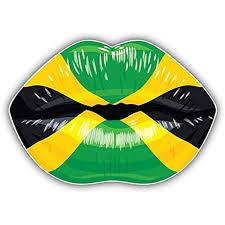 Amazon Com Kw Vinyl Jamaica Flag Lips Truck Car Window Bumper Sticker Decal 5 Automotive