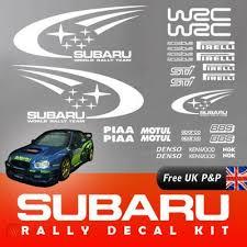 Subaru Full Decal Kit Wrc Rally Replica Impreza Vinyl Stickers Graphics Wrx Sti 312623531