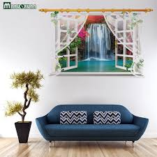 Small Stream Fake Windows Stickers Screens Window Landscape Wall Stickers Bedroom Living Room Background Decorative Wall Sticker Landscape Wall Stickers Wall Stickerdecorative Wall Stickers Aliexpress