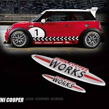 Jcw 3d Decoration Sticker Modification Accessories For Bmw Mini Cooper S John Cooper Works R50 R52 R53 R55 R56 R60 F54 F56 F60 Car Stickers Aliexpress