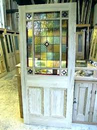 beveled glass door inserts leaded front
