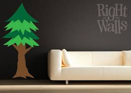 Pine Tree Large Floral Wall Decals Vinyl Art Stickers