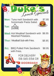 Duke's Diner - Posts - Plattsburgh, New York - Menu, Prices, Restaurant  Reviews   Facebook