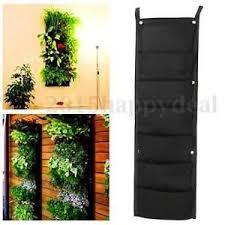 7 Pockets Hanging Fence Garden Vertical Flower Herbs Wall Planter 100 X 29cm Uk Vertical Garden Hanging Wall Planters Planter Bags