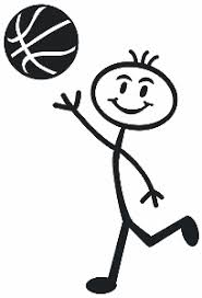 Basketball Teen Boy Decal 04 Figure Stick People Car Van Stickers Wildlife Decal