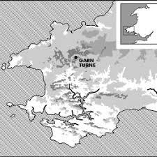 Location of Garn Turne (Drawn by Abby George). | Download Scientific Diagram