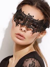 black bat shaped lace mask