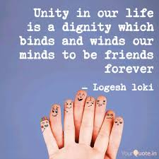 unity in our life is a di quotes writings by logesh loki