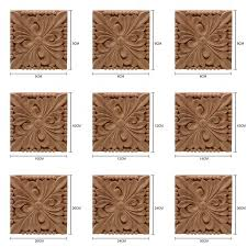 Wood Carving Decal Carved Onlay Applique Unpainted Frame Door Wall Decor For Cabinet Home Furniture Walmart Com Walmart Com