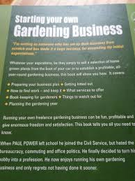 starting your own gardening business