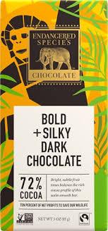 endangered species dark chocolate 72