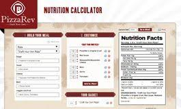 transparency to fast cal pizza